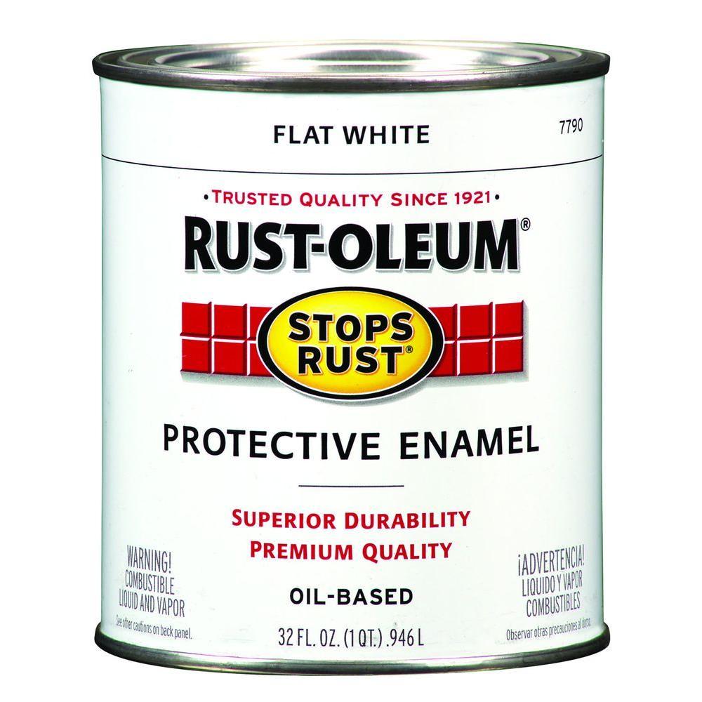 1 qt. Flat White Protective Enamel Paint