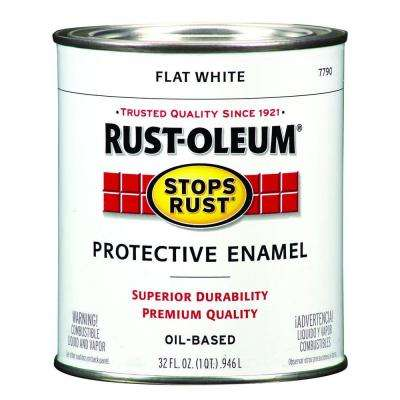 1 qt. Flat White Protective Enamel Paint (Case of 2)