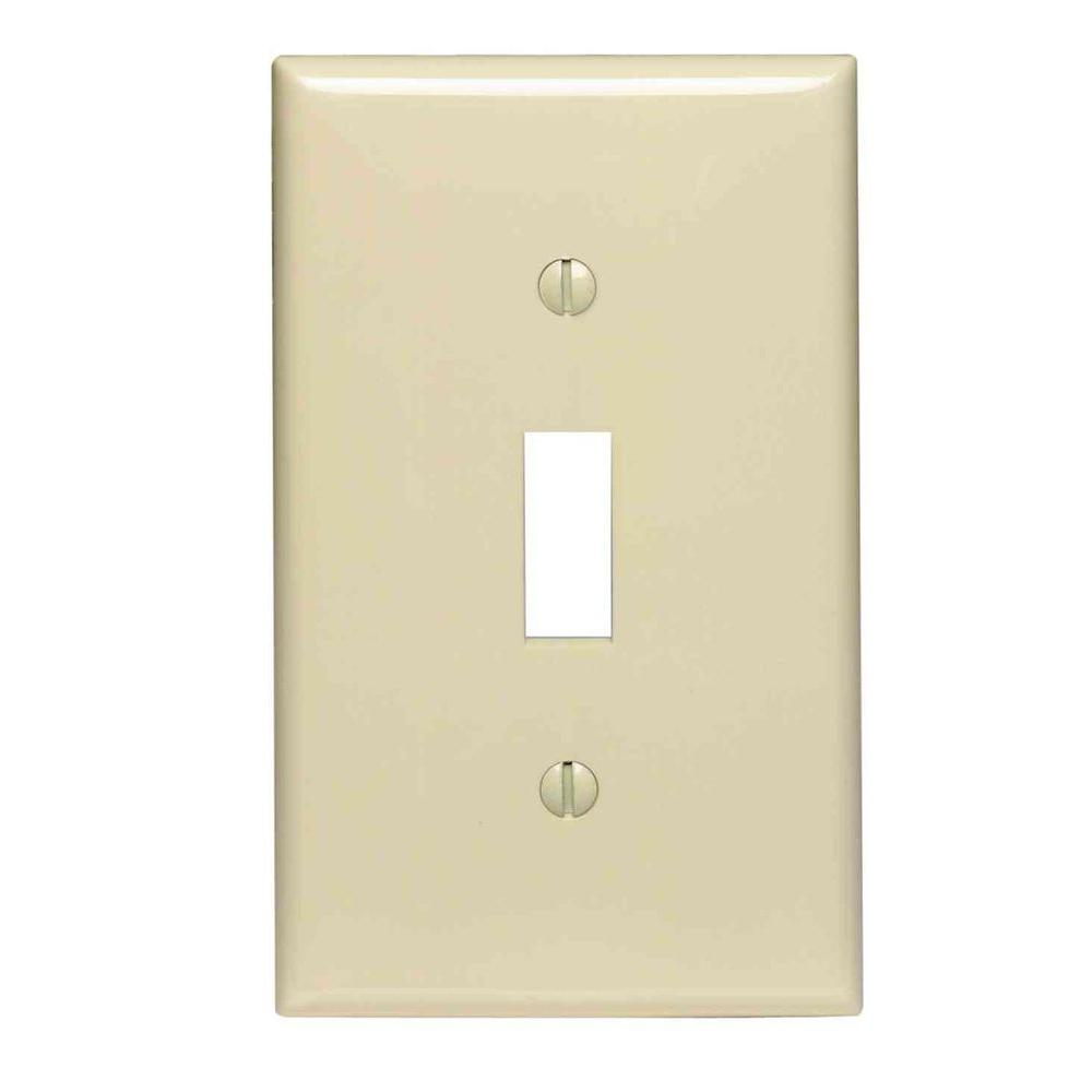 1-Gang Midway Toggle Nylon Wall Plate, Ivory