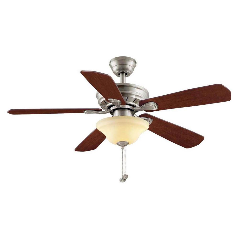 Hampton Bay Wellston 44 in. LED Brushed Nickel Ceiling Fan on