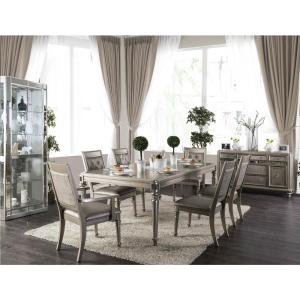 Xandra Champagne Transitional Style Dining Table