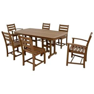 Trex Outdoor Furniture Monterey Bay Tree House 7 Piece Plastic Outdoor Patio Dining Set Txs118 1