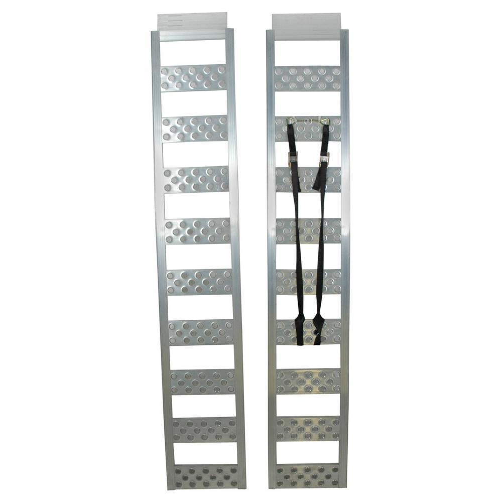Aluminum Atv Ramps >> Reese 77 In Straight Loading Ramp Pair 7453700 The Home Depot