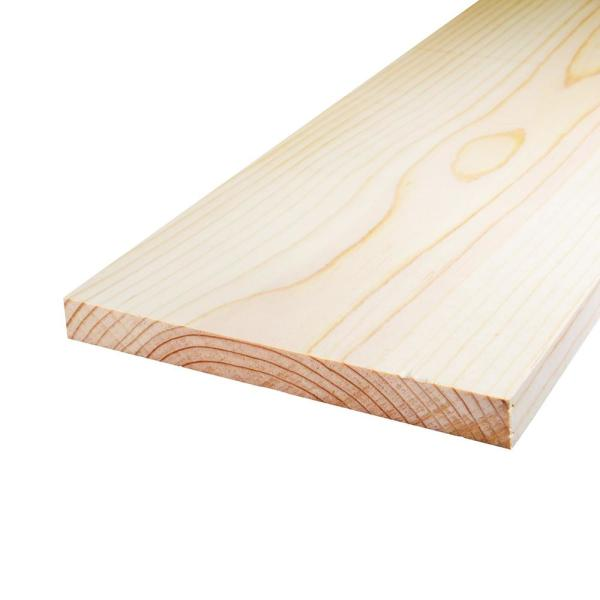 Unbranded 3 4 In X 16 In X 4 Ft S4s Laminated Spruce Panel Board 1001255003 The Home Depot