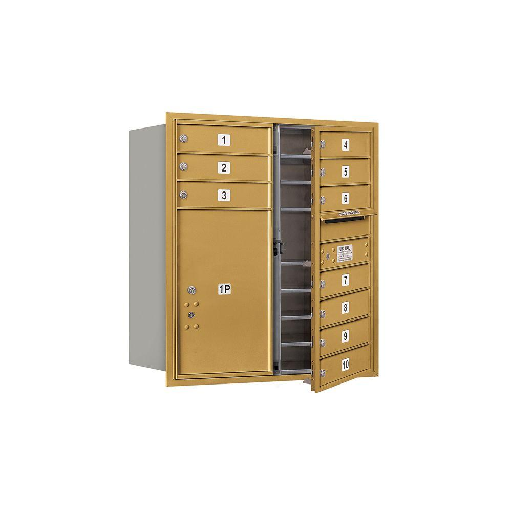 3700 Series 34 in. 9 Door High Unit Gold Private Front