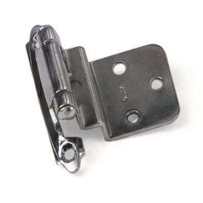Inset Polished Chrome 3/8 in. Self-Closing Hinge (1-Pair)