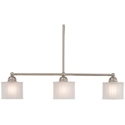 1730 Series 3-Light Polished Nickel Island Light