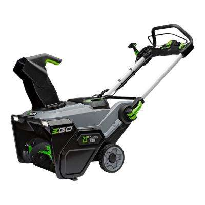 Reconditioned 21 in. 56V Lith-Ion Cordless Electric Single-Stage Snow Blower, Two 5.0 Ah Batteries and Charger Included