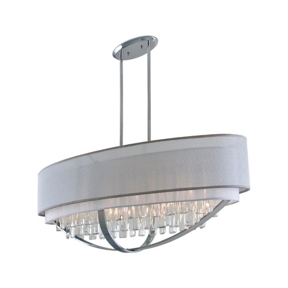 Filament Design Celestial 6-Light Chrome Pendant