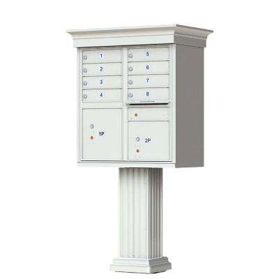 8 Mailboxes 2 Parcel Lockers 1 Outgoing Pedestal Mount Cluster Box Unit
