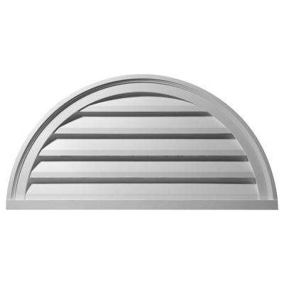 2 in. x 40 in. x 20 in. Functional Half Round Gable Louver Vent