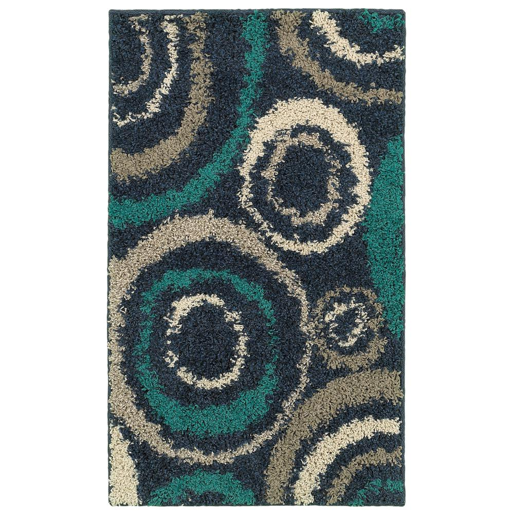 Home Decorators Collection Orbit Teal 2 ft. x 3 ft. Area Rug