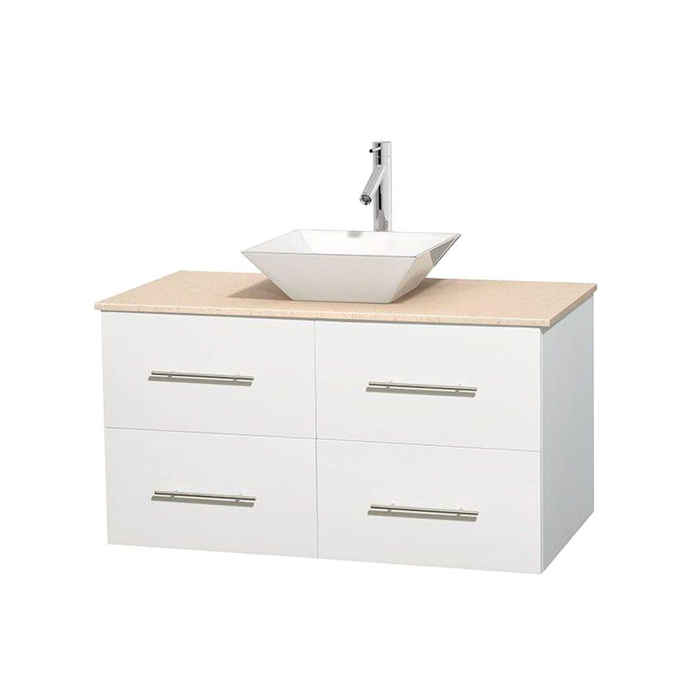 Wyndham Collection Daytona 60 in. Double Vanity in Cherry with ...