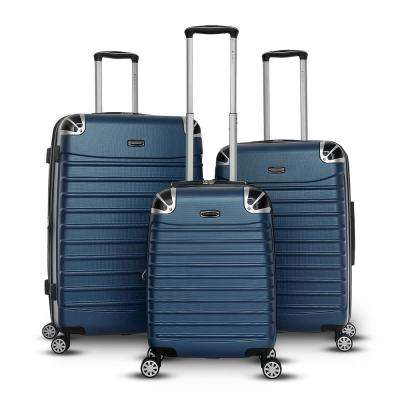 Leon Collection 3-Piece Hard Side Upright Spinner Set in Blue