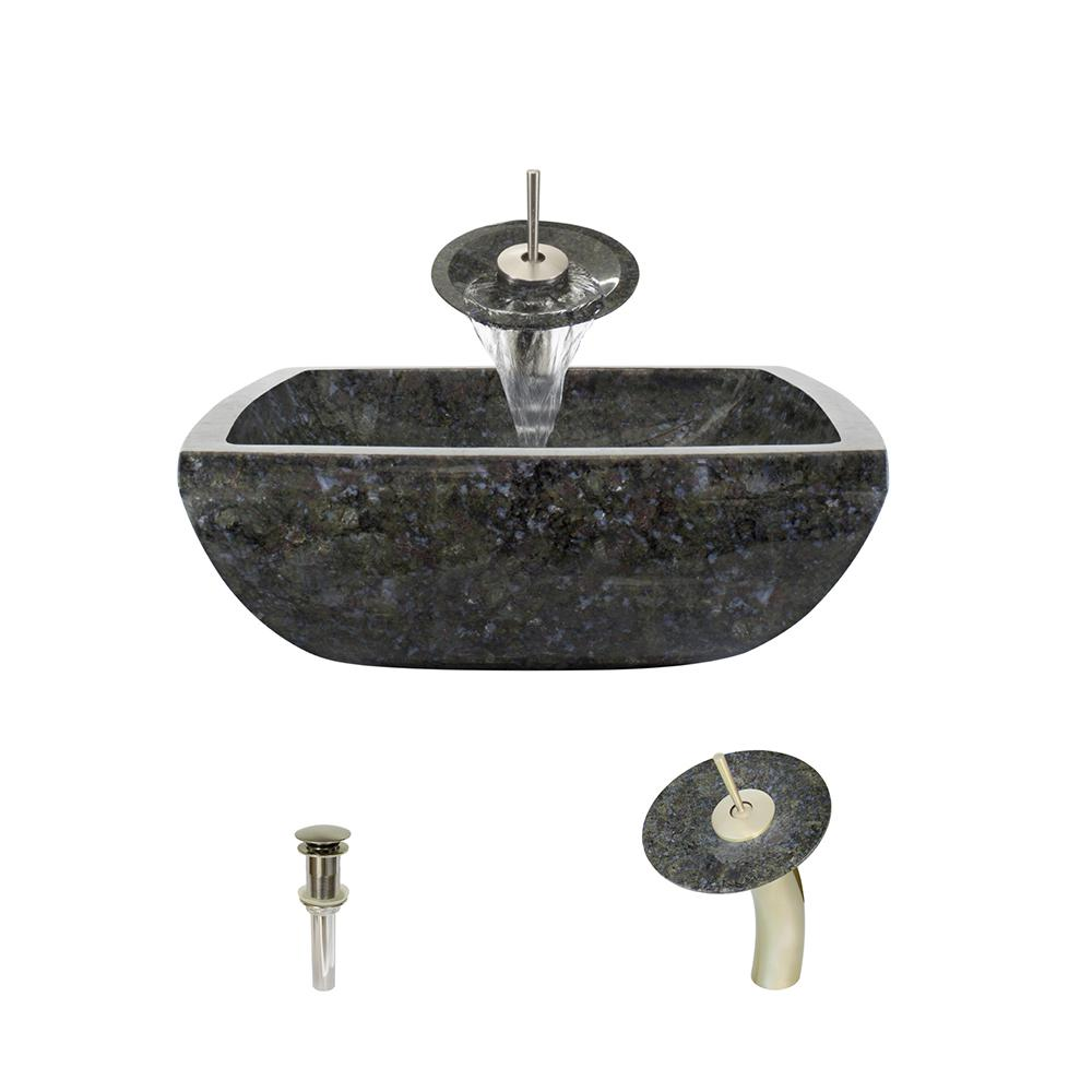 MR Direct Stone Vessel Sink in Butterfly Blue Granite with Waterfall ...