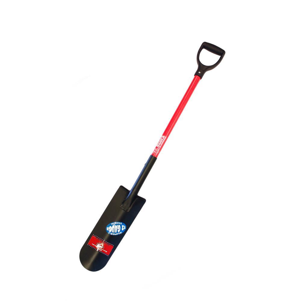 12-Gauge 14 in. Drain Spade with Fiberglass D-Grip Handle