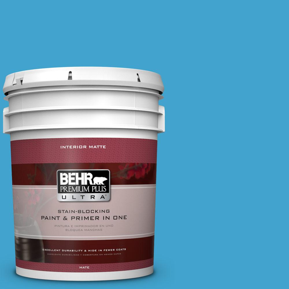 BEHR Premium Plus Ultra 5 gal. #540B-6 Sea Ridge Flat/Matte Interior Paint
