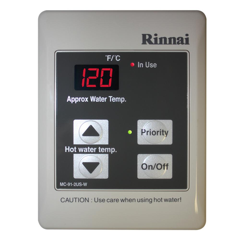 Rinnai Temperature Controller for Tankless Water Heaters in White