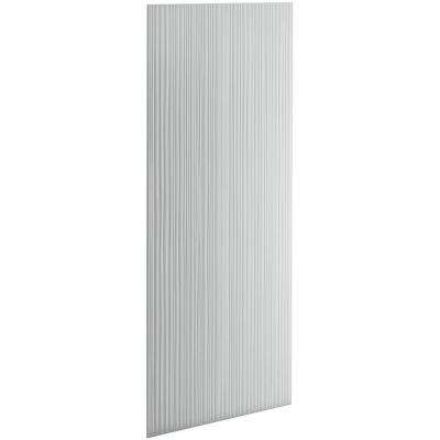 Choreograph 0.3125 in. x 32 in. x 96 in. 1-Piece Shower Wall Panel in Ice Grey with Cord Texture for 96 in. Showers