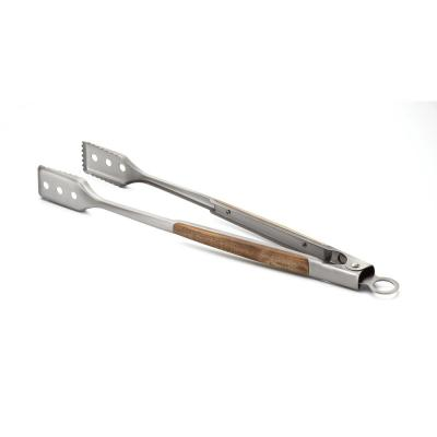 Jackson Acacia Wood Locking Tongs for BBQ Grill, Stainless Steel