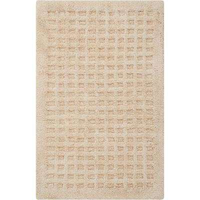 Plush Tan 1 ft. 9 in. x 2 ft. 10 in. Bath Rug