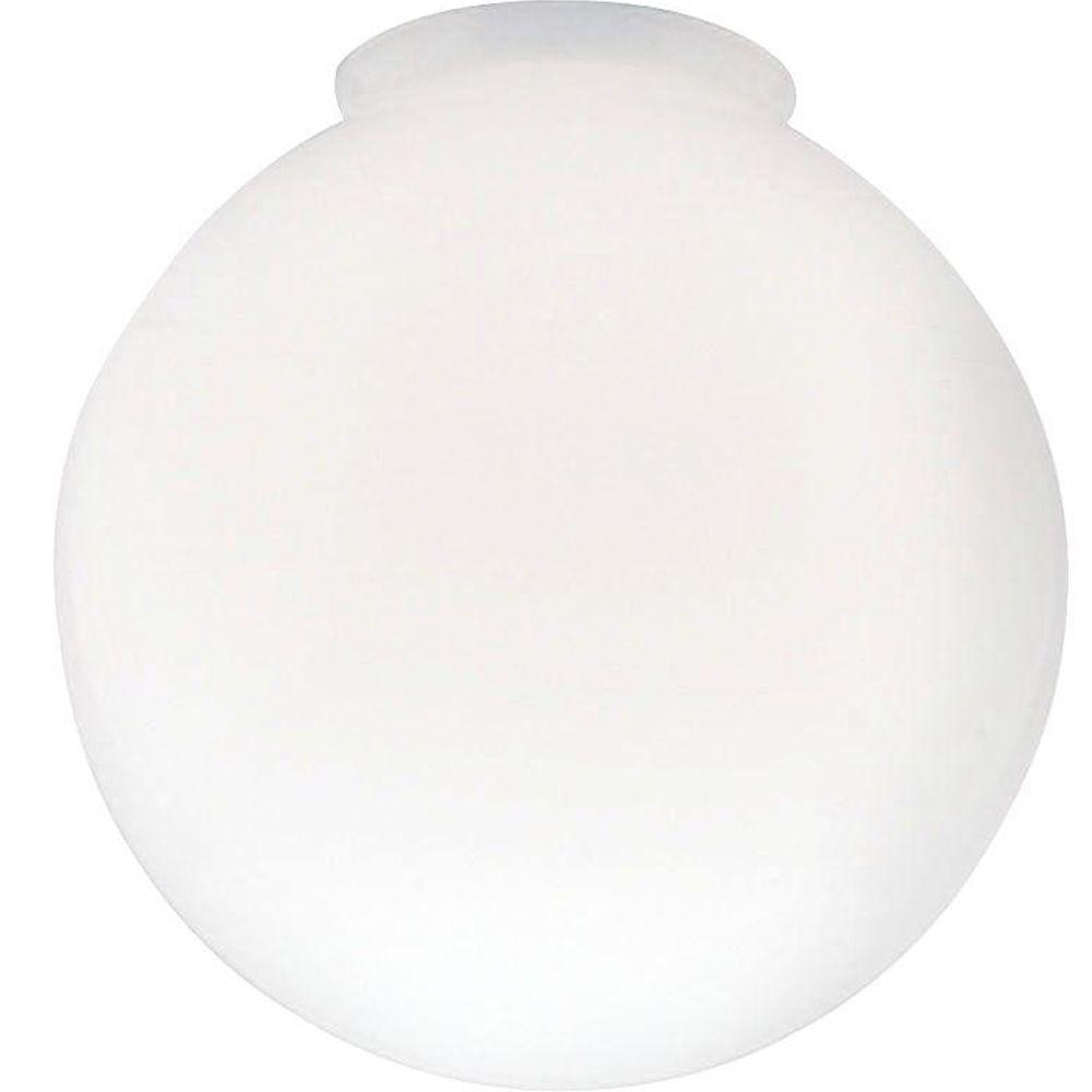 handblown gloss white globe with 314 in