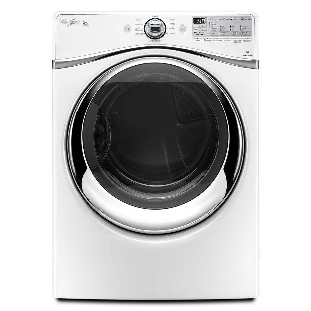 Whirlpool Duet 7.4 cu. ft. Electric Dryer with Steam in White-DISCONTINUED