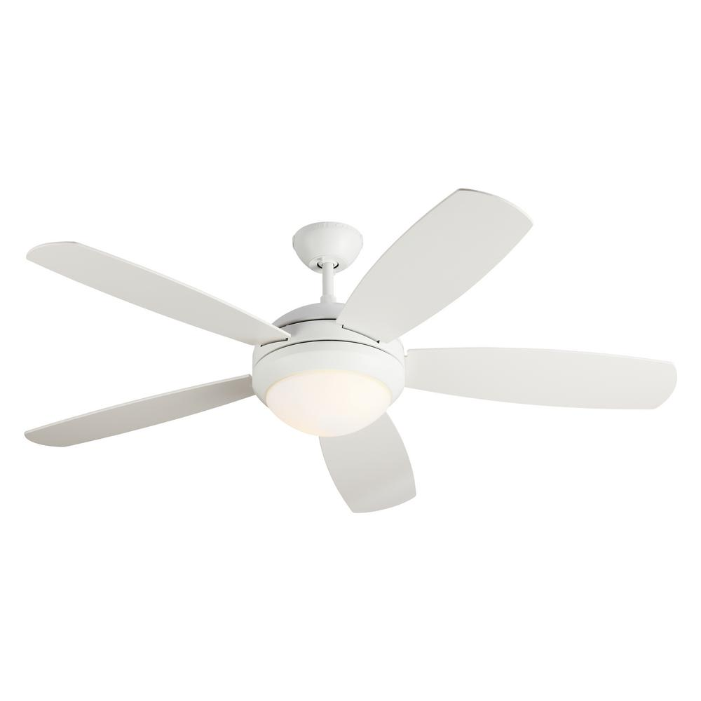 Monte Carlo Discus ES 52 in. Indoor Rubberized White Ceiling Fan with Light