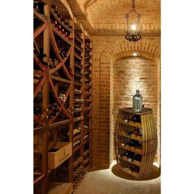 17-Bottle Antique Tan Floor Wine Rack