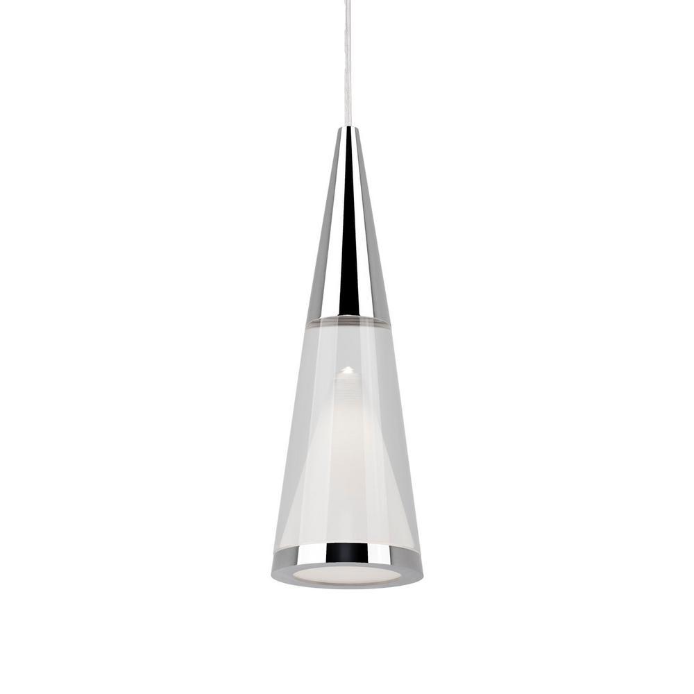 Tech Lighting Home Depot: Radionic Hi Tech Morris 1-Light 40-Watt Equivalence Chrome