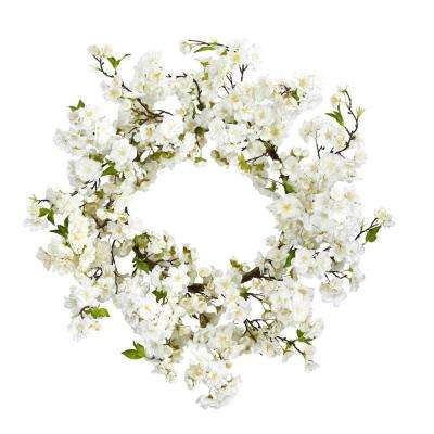24 in. Cherry Blossom Wreath