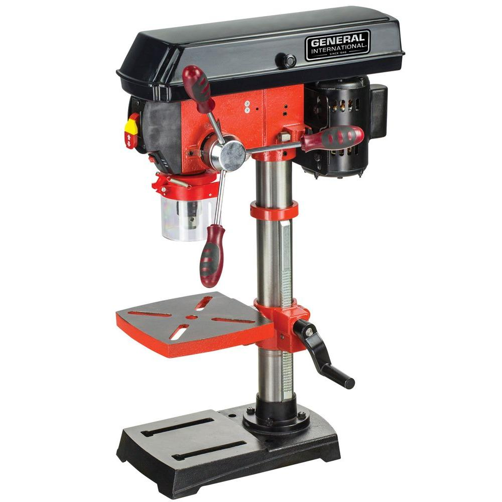 10 in. Drill Press with Variable Speed, Laser System and LED