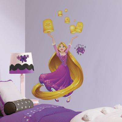 5 in. x 19 in. Disney Sparkling Rapunzel 18-Piece Peel and Stick Giant Wall Decal