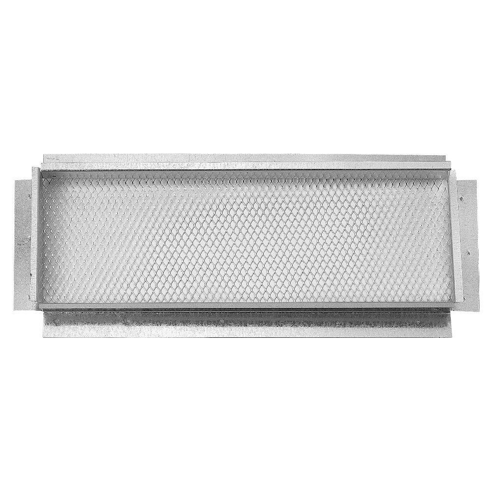 Construction Metals 14 in. x 5 in. Galvanized Soffit Vent