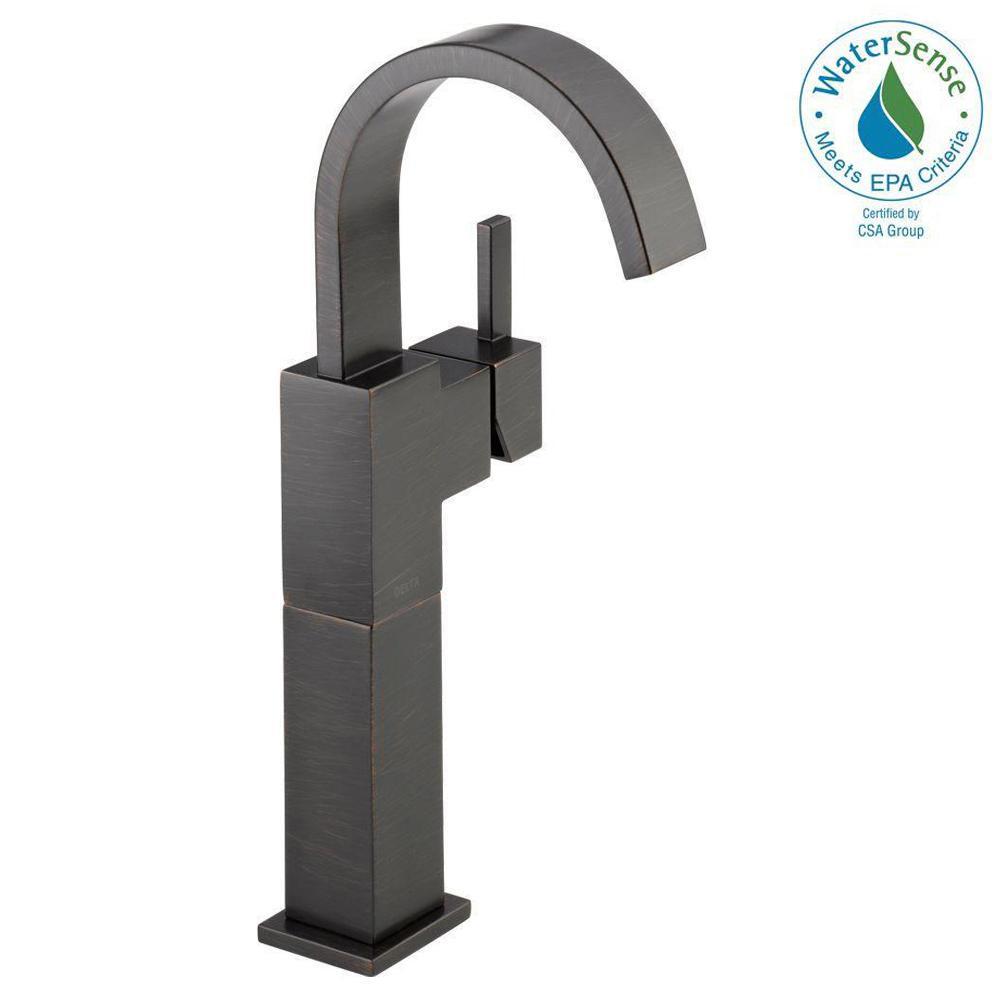 Vero Single Hole Single-Handle Vessel Bathroom Faucet in Venetian Bronze