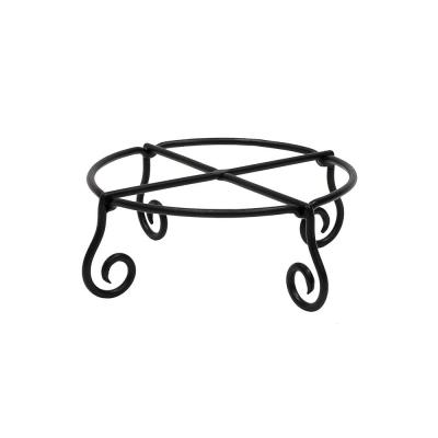 12.25 in. Dia Black Powder Coat Small Short Piazza Plant Stand