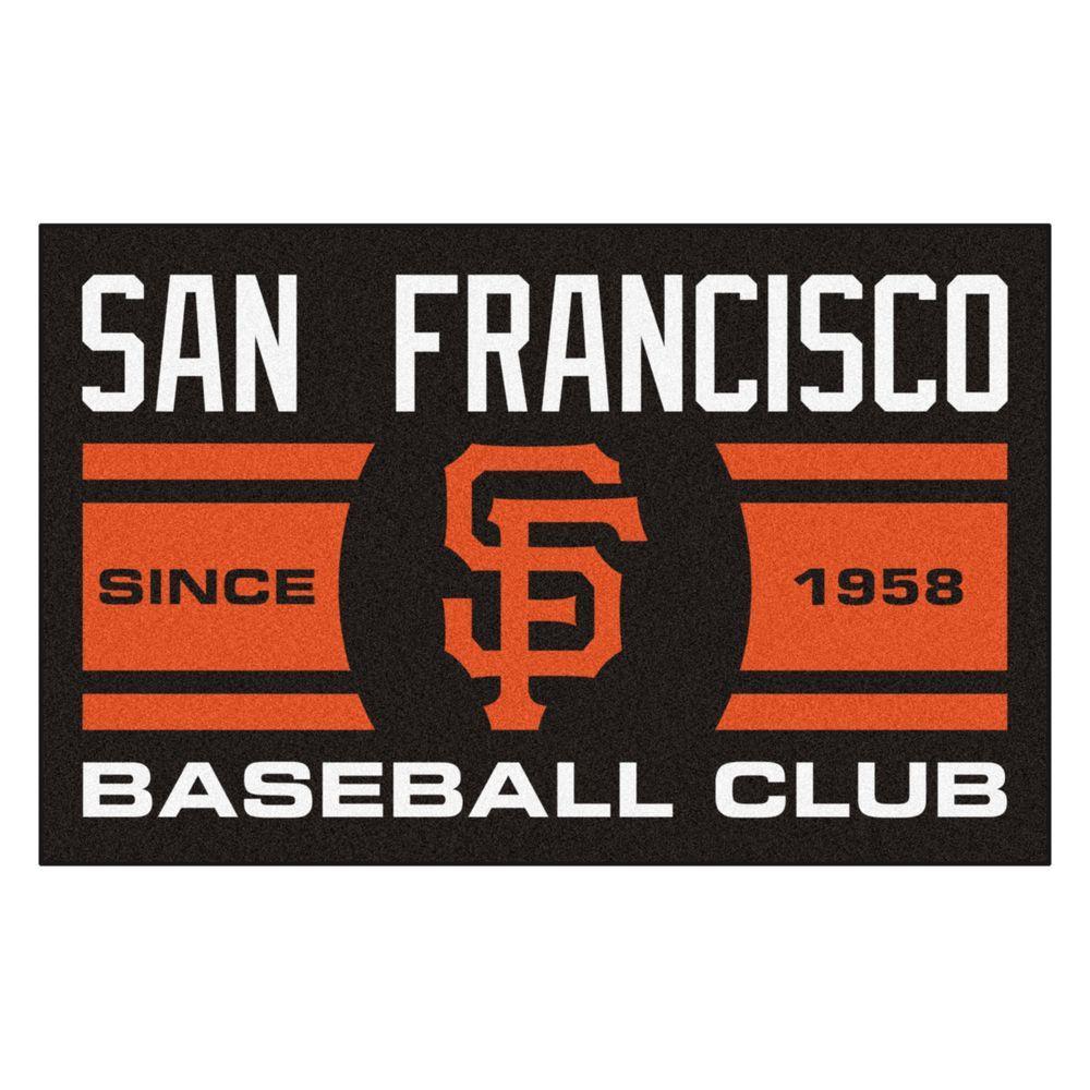 MLB San Francisco Giants Black 2 ft. x 3 ft. Area Rug