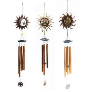 Alpine Metal Sun and Moon Wind Chimes (Assorted Master Pack of 3) by Alpine
