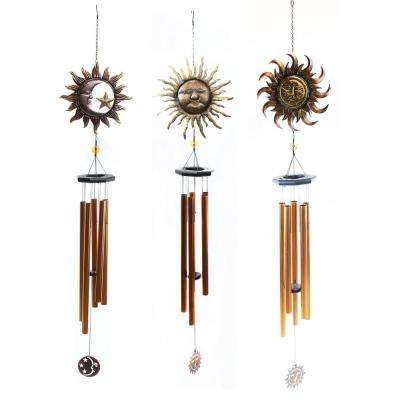 Metal Sun and Moon Wind Chimes (Assorted Master Pack of 3)