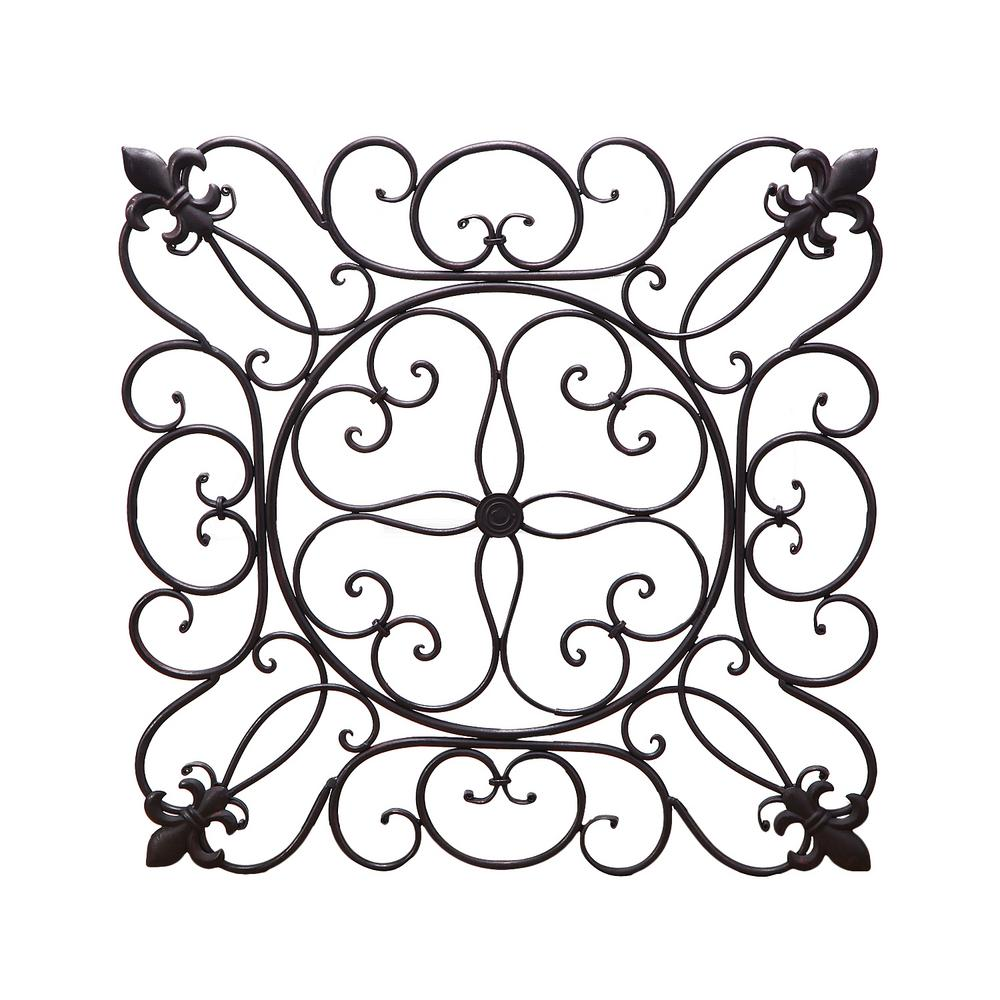 19 in. x 19 in. Square Metal Wall Decor