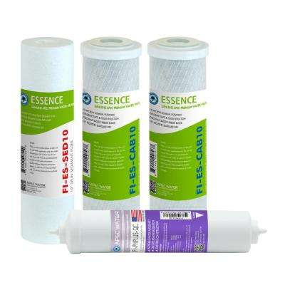 Essence 10 in. Replacement Pre-Filter Set with pH+ Calcium Carbonate Re-Mineralization Filter for ROES-PH75