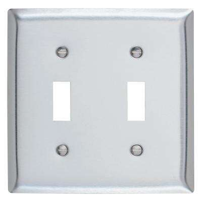 302 Series 2-Gang Toggle Wall Plate, Stainless Steel