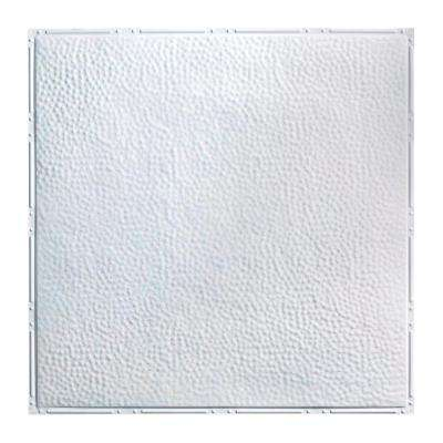 Chicago 2 ft. x 2 ft. Nail-up Tin Ceiling Tile in Gloss White