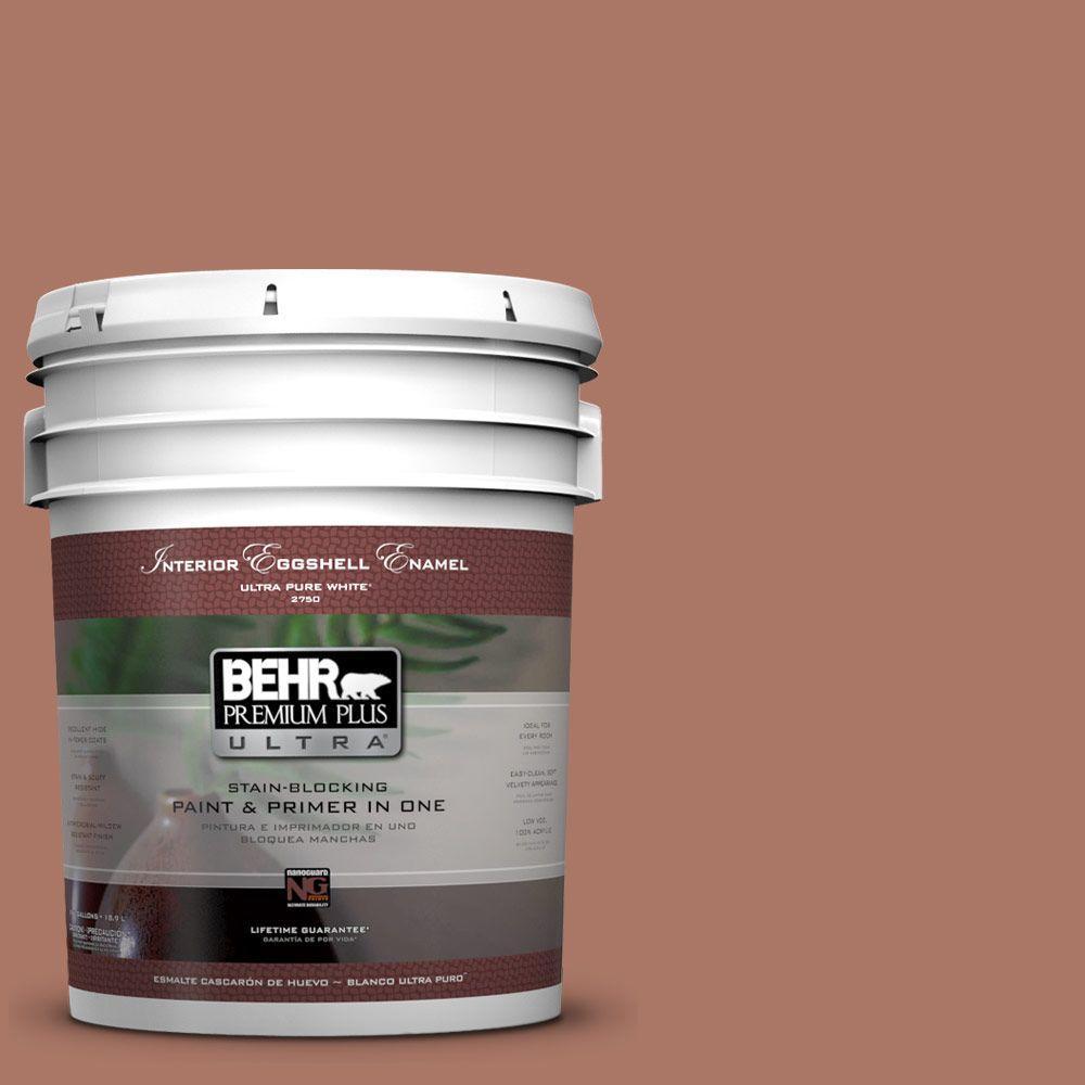 BEHR Premium Plus Ultra 5-gal. #210F-6 Chutney Brown Eggshell Enamel Interior Paint