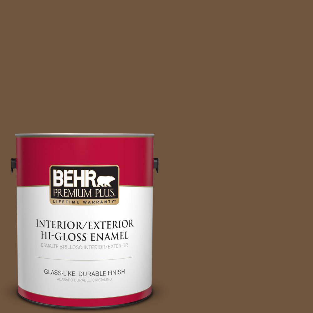 1 gal. #PPU4-20 Ancient Root Hi-Gloss Enamel Interior/Exterior Paint