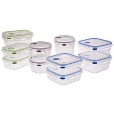 Ultra Seal Food Storage Container 20-Piece Set (Case of 2 Sets)