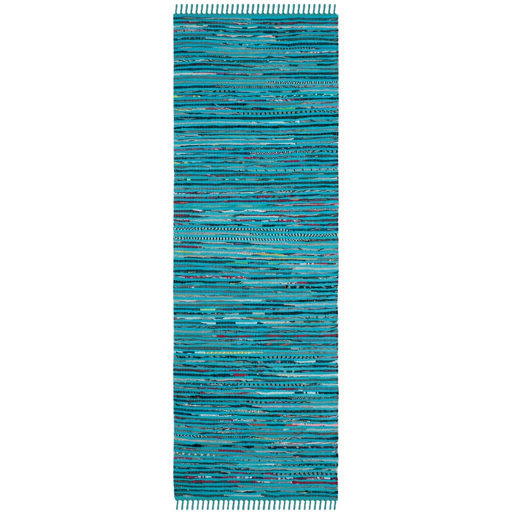 Safavieh Rag Rug Turquoise Multi 8 Ft X 10 Ft Area Rug: Safavieh Rag Rug Turquoise/Multi 2 Ft. 3 In. X 5 Ft