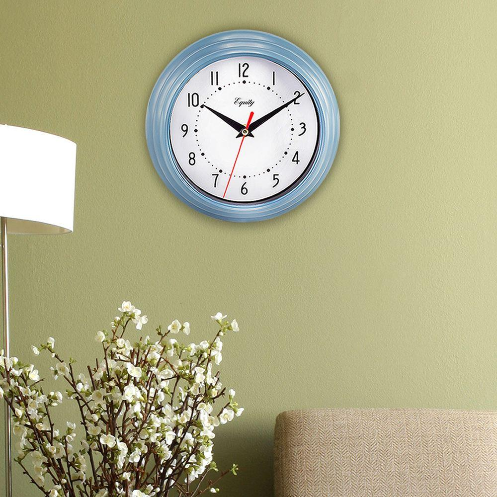 Equity by La Crosse 8 in. Round Red Quartz Wall Clock-25021 - The ...