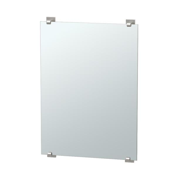 Elevate 32 in. x 22 in. Frameless Mirror in Satin Nickel