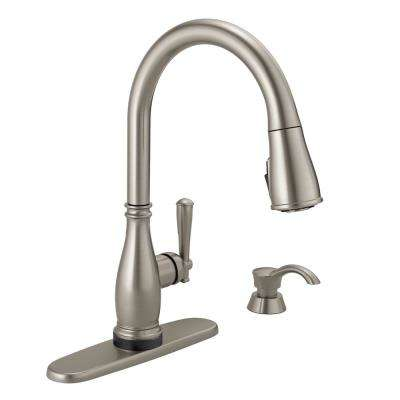 Charmaine Single Handle Pull Down Sprayer Kitchen Faucet With Touch2o And Shieldspray Technologies In Stainless